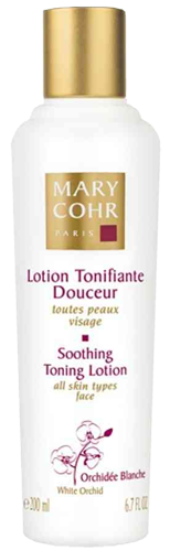 Soothing toning lotion with orchidee